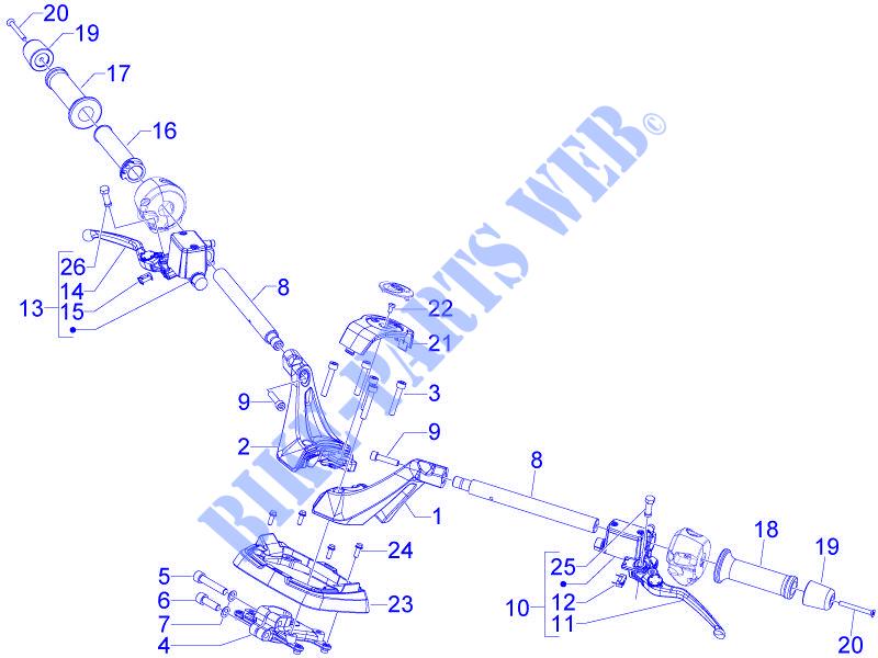 Bremssttel & Bremssattelteile CM081502 POMPA FRENO SX GP 800 ...